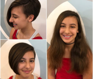 Amazing Transformation & Donation for Wigs 4 Kids