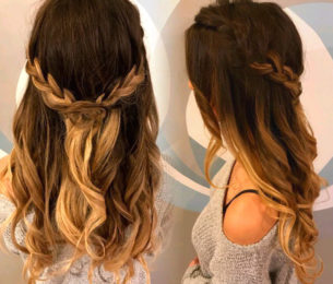 Braided Cascading Curls