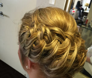 French Braided Wrap Around Updo