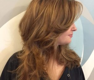 Fun, Layered Cut with Few Highlights for Movement