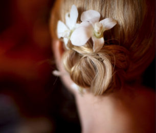 Gorgeously Simple Bridal Updo