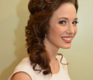 Retro-Inspired Side Swept Curls