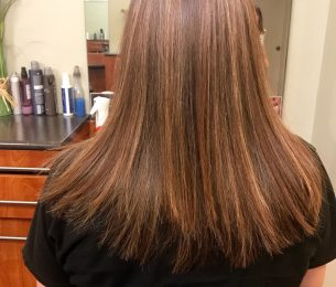 Rich Brunette with Sunkissed Highlights