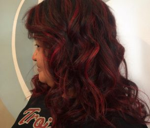 Rich Dark Chocolate with Fun Red Highlights