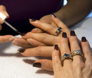Rich, Fall Nails Perfect for a Special Occassion