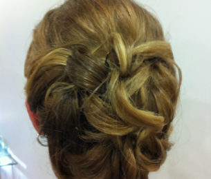 Updo with Delicate Curls