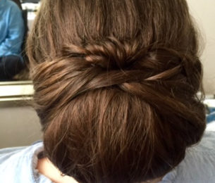 Wrapped & Twisted Chignon Updo